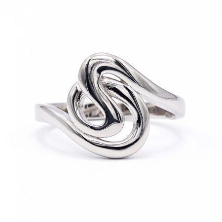 Ezüst kő nélküli gyűrű