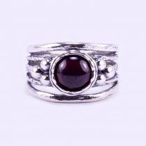 """Izraeli ezüst gránát köves gyűrű """"gömbök"""""""