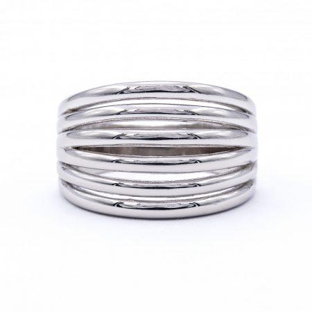 """Ezüst kő nélküli gyűrű """"6soros.domború"""""""
