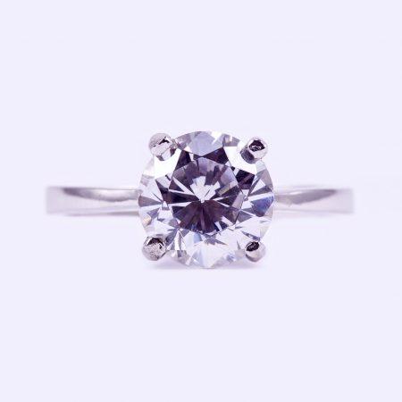 """Ezüst cirkónia köves gyűrű """"7,5"""""""