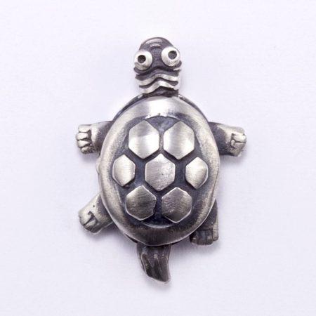 Ezüst teknős medál