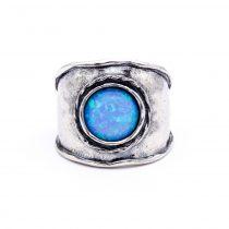 """Izraeli ezüst opál köves gyűrű """"10"""""""