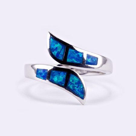 """Ezüst kék opál gyűrű """"áll.3"""""""