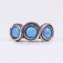"""Izraeli ezüst opál köves gyűrű """"sorban 3"""""""