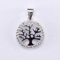 """Ezüst életfa medál cirkónia kövekkel """"kis kerek"""""""