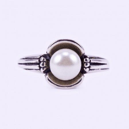 """Ezüst gyöngy gyűrű """"ant"""""""
