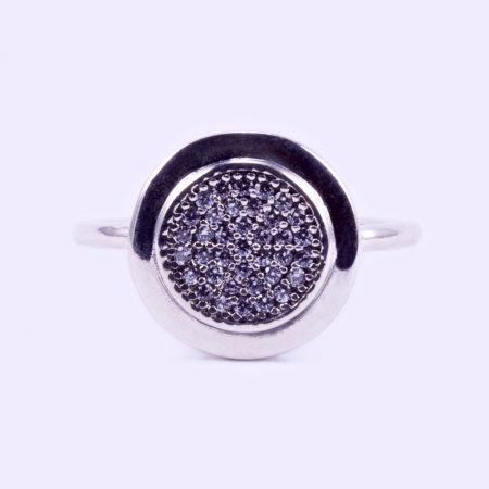"""Ezüst cirkónia köves gyűrű """"kerek"""""""