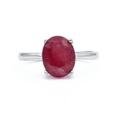 """Ezüst rubin köves gyűrű """"8x10"""""""