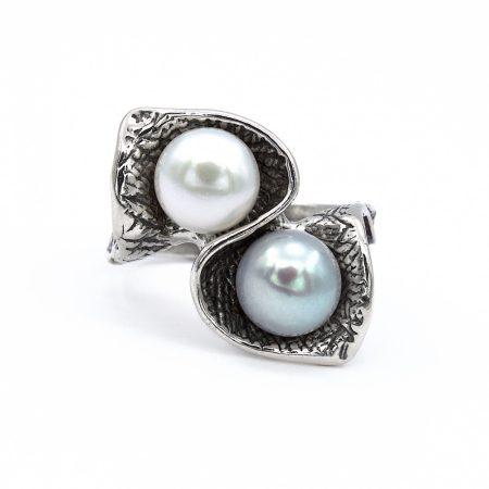 """Izraeli ezüst gyöngy gyűrű """"2"""""""