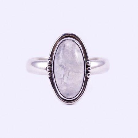 """Ezüst holdkő gyűrű """"ant.ovál"""""""