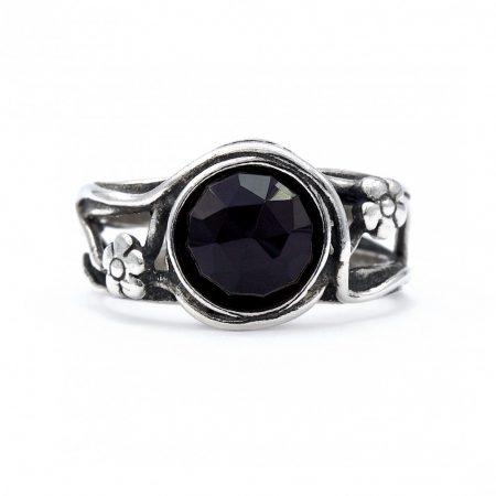 """Izraeli ezüst ónix köves gyűrű """"8"""""""