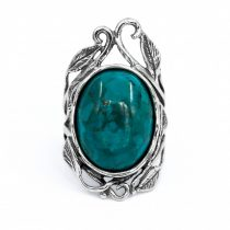 "Izraeli ezüst türkiz köves gyűrű ""15x20"""