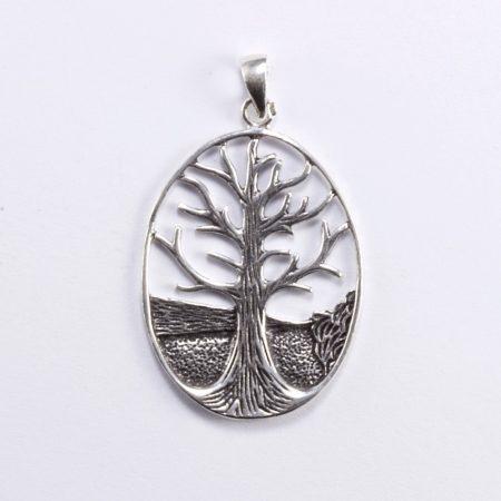 """Ezüst életfa medál """"nagy ovál"""""""