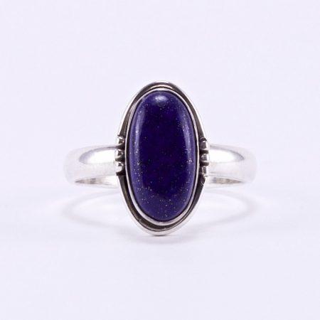 """Ezüst lápisz lazuli gyűrű """"ant.ovál"""""""