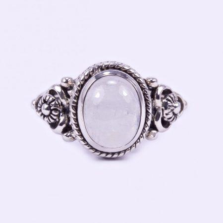 """Ezüst holdköves gyűrű """"virág"""""""
