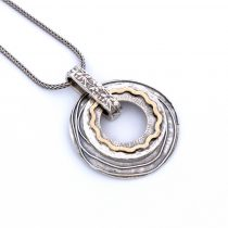 """Izraeli ezüst aranyozott medál lánccal """"2.kerek"""""""