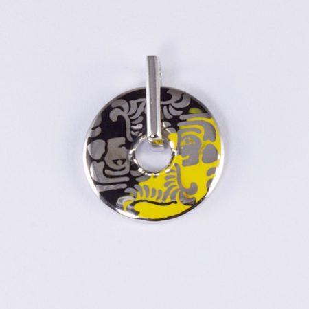 Zománcozott ezüst medál