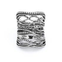 """Izraeli ezüst áttört szélesedő gyűrű """"25"""""""