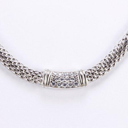 Ródiumozott ezüst lánc cirkóniakövekkel