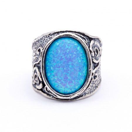 """Izraeli ezüst opál köves gyűrű """"12x16"""""""