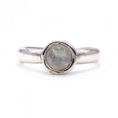 """Izraeli ezüst holdkő gyűrű """"6"""""""