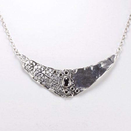 Izraeli ezüst ónix lánc