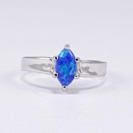 Ezüst kék opál gyűrű 2.
