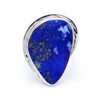 Egyedi ezüst lápisz lazuli köves gyűrű