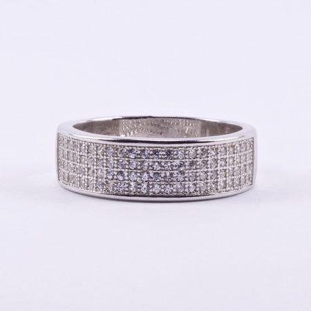 """Ezüst cirkónia köves gyűrű """"négy soros"""""""