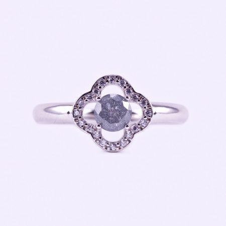Ezüst smaragd és cirkónia köves gyűrű