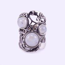 Izraeli ezüst gyűrű holdkövekkel