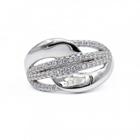 """Ezüst cirkónia köves gyűrű """"13"""""""