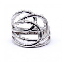 """Ezüst kő nélküli gyűrű """"íves"""""""