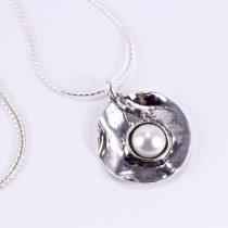 """Izraeli ezüst gyöngy medál lánccal """"köz"""""""