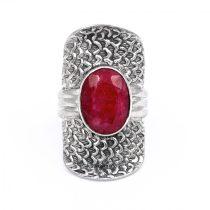"""Ezüst rubin köves gyűrű """"10x14"""""""