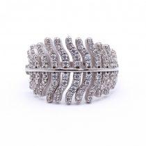 """Ezüst cirkónia köves gyűrű """"levél"""""""