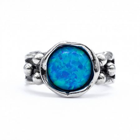 """Izraeli ezüst opál köves gyűrű """"gömbök"""""""