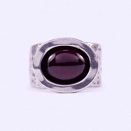 """Izraeli ezüst gránát köves gyűrű """"12x10"""""""