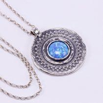 Izraeli ezüst opál köves medál lánccal
