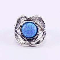 """Izraeli ezüst opál köves gyűrű """"levél"""