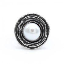 """Izraeli ezüst gyöngy gyűrű """"9,5"""""""
