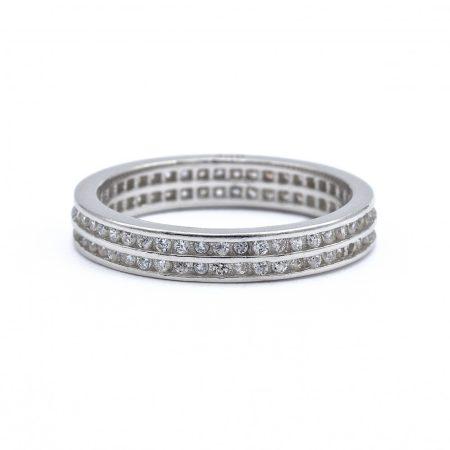 """Ezüst cirkónia köves gyűrű """"kétsoros"""""""