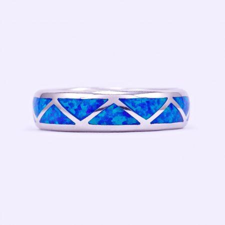 """Ezüst kék opál köves gyűrű """"kar."""""""