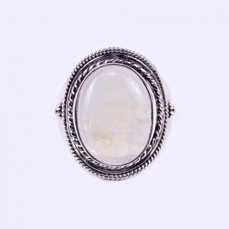 """Ezüst holdköves gyűrű """"12x16"""""""