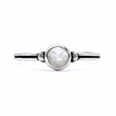 """Ezüst holdköves gyűrű """"sima"""""""