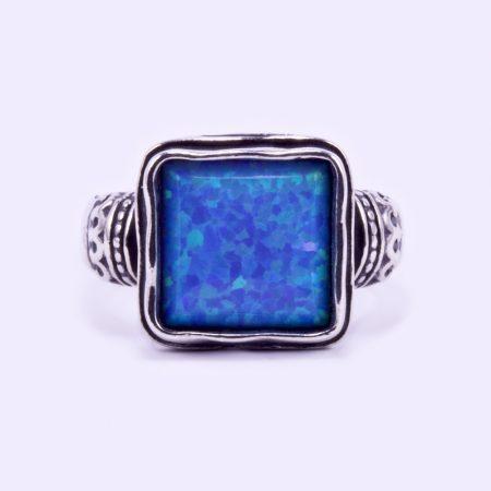 """Izraeli ezüst opál köves gyűrű """"fonott"""""""