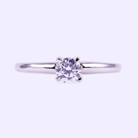 """Ezüst cirkónia köves gyűrű """"5"""""""