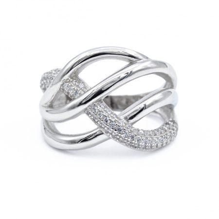 """Ezüst cirkónia köves gyűrű """"16"""""""