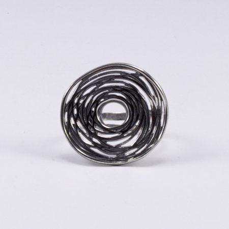 Egyedi ezüst antikolt gyűrű