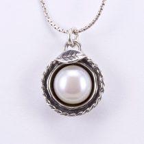 """Izraeli ezüst gyöngy medál lánccal """"levél"""""""